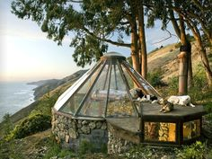 Glass Cabin! Mickey Muenning Green house, Big Sur, California