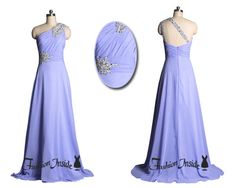 Purple One Shoulder Prom Dress, Purple Evening Dress, Long Bridesmaid Formal Gowns P0047 on Etsy, $129.00