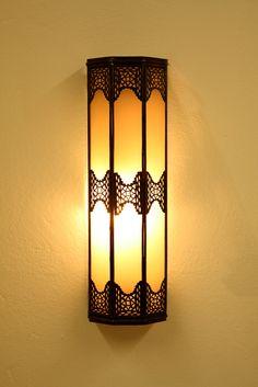 moroccan outdoor lighting. Metal Wall Sconce With White Glass - WL002. Moroccan LightingSpanish InteriorWall LightingOutdoor Outdoor Lighting