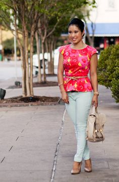 Floral Peplum + Mint >> Angela Kichoncho how does this look?