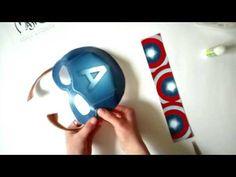 Captain America mask from MaskinBox - YouTube