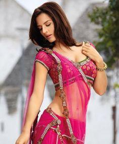 Indian Half Blouse Transparent Saree Designs
