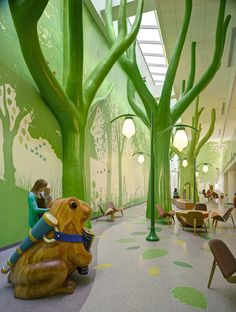 Nationwide Children's Hospital Interiors by Brad Feinknopf, via Behance