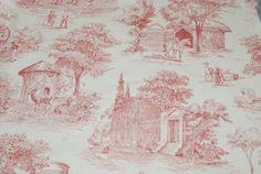 Zookeeper Toile Fabric by ShopMyFabrics on Etsy