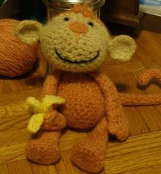 crochet pattern felted monkey