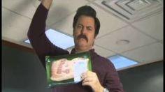 Ron Swanson PSA on the Bacon Shortage