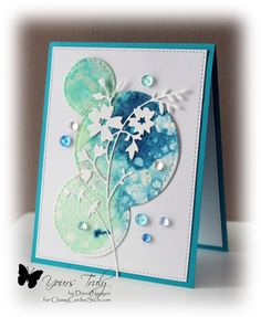 Watered Honey Blossom sprig card by Diana Nguyen