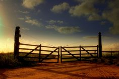 A typical Texas Farm-gate and long dirt driveway. Country Farm, Country Life, Country Girls, Country Music, Country Roads, Country Fences, Country Lyrics, Country Quotes, Country Living