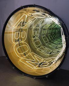 Infinity Table, Infinity Lights, Infinity Mirror, Light Art Installation, Mirror Art, Sculpture, Basement Remodeling, Visual Merchandising, Sign Design