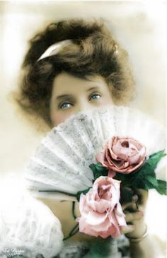 Victorian girl with fan...