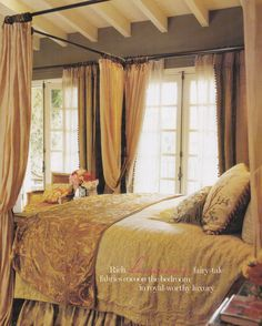 Bel Air Bedroom of Donna Kaplan by Lyn Von Kersting. Published: Country French Decorating by Better Homes & Gardens Spring Summer 2006