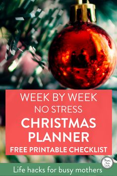 Grab our FREE printable Christmas planner for your week by week early Christmas planning checklist. Newly update for 2017. This is your way to have a stress-free run up to Christmas, with weekly checklist actions to tick off. Make sure you arrive at Christmas Day feeling excited rather than exhausted, by downloading our Christmas Planner and starting to use it from today! #ChristmasPlanning #ChristmasPlanner #FreePrintables #Christmas2017