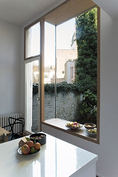 Bab52. AHA, Aurelie Hachez architecte Windows And Doors, Small Living, Carpentry, Kitchen Remodel, Tiny House, Facade, Beautiful Homes, Architecture Design, House Design