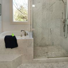 Might work for our small bathroom, can't get both tub and shower, so Japanese soaking great idea. From houzz