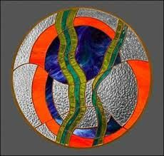Image result for free standing stained glass panels