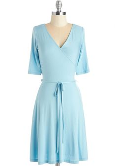 Easygoing Inspiration Dress. In this sky-blue dress you master a balanced mix of laid-back and lovely. #modcloth