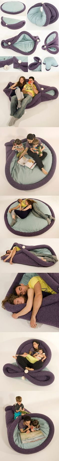 Transformable pad for lazy living.