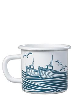 Bringing a touch of the coast to any home.Whitby enamelware mug. Great for home use but robust enough for seaside camping trips.Capacity: 400ml