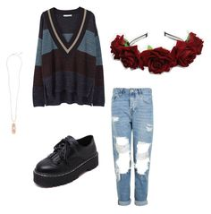 """""""Untitled #219"""" by ninaellie on Polyvore featuring MANGO, Topshop, WithChic and Kendra Scott"""