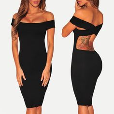 $24.99 Crisscross Off Shoulder Bodycon Dress