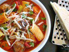 Sicilian Meatball Soup we must LCHF it. (Meatballssub pork rind