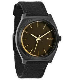 Nixon Montre Time Teller Noir / Orange