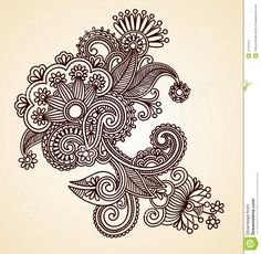 Abstract Henna Design Element Stock Images - Image: 21162314