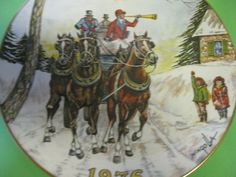 Collector Plate Gorham Fine China Horses by hazeleyesartglassetc