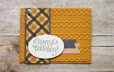 Sherry's Stamped Treasures: Warmth and Cheer Masculine Birthday Card