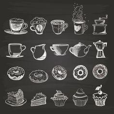 A Comprehensive Overview on Home Decoration - Modern Coffee Chalkboard, Blackboard Art, Kitchen Chalkboard, Chalkboard Lettering, Chalkboard Designs, Lettering Art, Coffee Cup Art, Coffee Shop, Coffee And Donuts