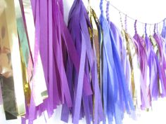 Purple party Tassel Garland by StudioMucci on Etsy, $35.00
