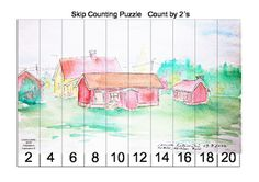 Skip Counting Puzzle - Count by 2´s