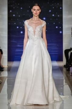 Reem Acra princess-like, embellished wedding dress