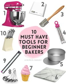 Top 10 must have baking tools for beginner bakers cake cheesecake cake cupcakes cake decoration cake fancy dessert cake Baking For Beginners, Cake Decorating For Beginners, Creative Cake Decorating, Cake Decorating Supplies, Cake Decorating Tutorials, Cookie Decorating, Beginner Cooking, Cake Baking Supplies, Beginner Baking Recipes