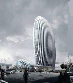 Gallery - Taipei Nangang Office Tower / Aedas - 7