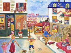 La petite marchande de Muguet - Huile sur toile - 46 x 61 cm. Claude, Naive Art, Oeuvre D'art, Les Oeuvres, Marie, Artisan, Painting, Lily Of The Valley, Oil On Canvas