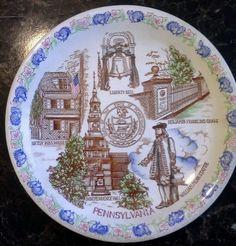 Blue Nikko Ironstone Pennsylvania Collectors Plate Decoration Dish