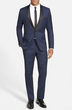 HUGO 'Anru/Hirey' Trim Fit Wool Tuxedo available at #Nordstrom
