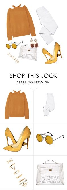 """🐒"" by mirka-smalova ❤ liked on Polyvore featuring Jason Wu, Tory Burch, Christian Louboutin, Spitfire, Forever 21, Hermès and Gas Bijoux"