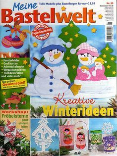 Bastelwelt Winterideen - jana rakovska - Picasa Webalbumok Christmas Snowman, Christmas Crafts, Free Magazines, Toddler Rooms, Painted Books, Book Quilt, Tole Painting, Paper Cutting, Crafts To Make