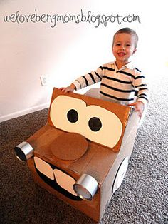 Cardboard Mater Tutorial.  My boys would LOVE this!