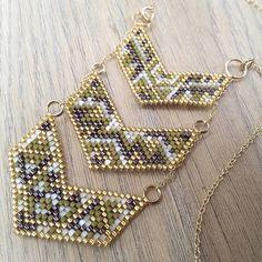 Sautoir terminé... En attendant les prochaines créas, bon dimanche à tous! #jenfiledesperlesetjassume #miyuki #jewelry #cestmoiquilaifait #navajo #creativa #peyote #diy #jewelrydesigner #tissageperles #chevron #jewels