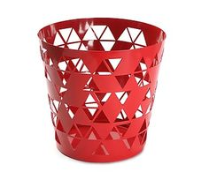 """Kosz """"Polygon Red"""", Ø 25, wys. 25 cm"""