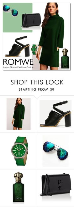"""Romwe 1"" by s-o-polyvore ❤ liked on Polyvore featuring Simplify, Clive Christian and Yves Saint Laurent"