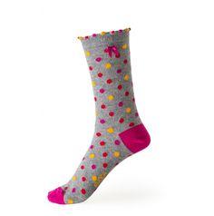 Dotty Ankle Sock - Pink #Fashion #IrishDesign