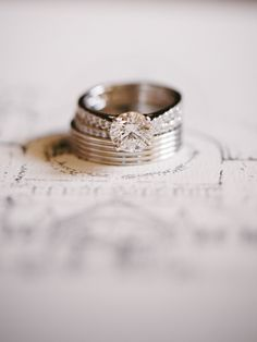 Engagement & Wedding Rings from DeBeers.com -- See the wedding on #smp here: http://www.StyleMePretty.com/2014/04/18/classic-english-wedding-at-the-bodleian-library/ Photography: Stephanie Swann Weddings - stephanieswannweddings.co.uk