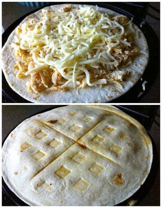 Waffled Quesadillas use your waffle iron to make chicken and cheese quesadillas for a fun and easy dinner or snack idea. -- 23 Things You Can Cook In A Waffle Iron Think Food, I Love Food, Good Food, Yummy Food, Waffle Maker Recipes, Eggs In Waffle Maker, Egg Waffle Recipe, Pancake Recipes, Breakfast Recipes