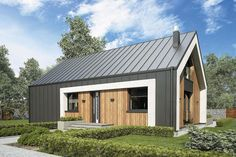 Architecture – Enjoy the Great Outdoors! Barn Style House Plans, Modern Barn House, Small House Plans, Modern House Design, Urban Farmhouse, Modern Farmhouse Exterior, Metal Building Homes, Building A House, Build My Own House