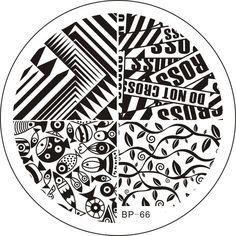 $2.99 Fish Leaves Nail Art Stamping Template Image Plate BORN PRETTY BP66 - BornPrettyStore.com