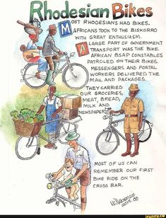 """&. W odesidn Bikes OST RHooESIANs HAD BIKES. , AFRmANs 'mOK To THE BISKORRO wum GREAT ENTHUSIASM. """" LARGE PART OF GOVERNMENT TRANSPORT WAS THE BIKE. AFRMAN BSAP CONSTABLES PATROLED ON THEIR BIKES. MESSENGERS AND POSTAL. WORKERS DELWERED THE. MAIL AND PACKAGES. ,. THEY GARRIED .ª. MOST 0F U$ CAN REMEMBER OUR FIRST ; BIKE... #videos #memes #odesidn #bikes #ost #rhooesians #had #afrmans #to #the #biskorro #wum #great #enthusiasm #large #part #of #government #transport #bike #afrman #bsap #pic"""